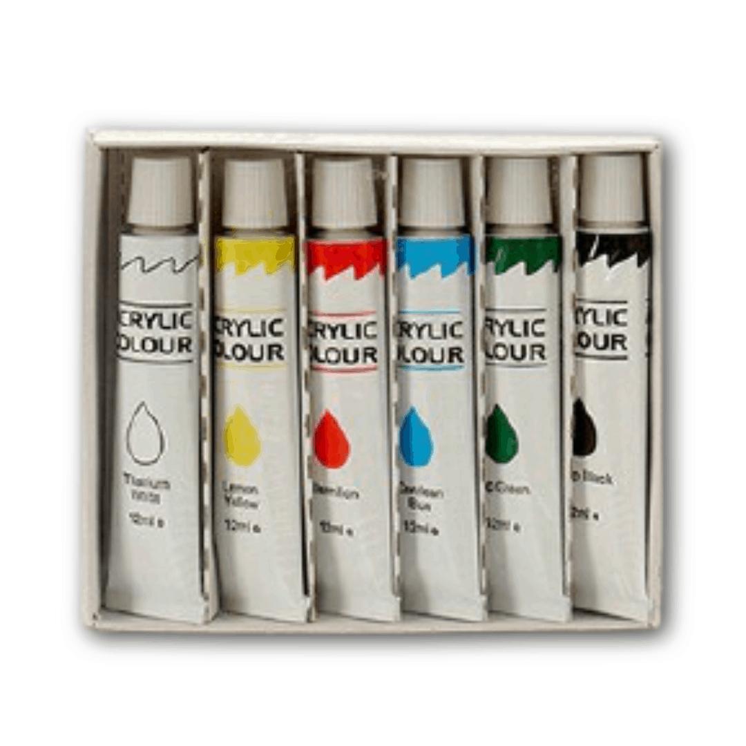 Akrylové barvy (6 kusů)
