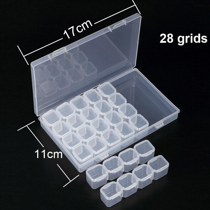 Úložný box s 28 přihrádkami na diamanty